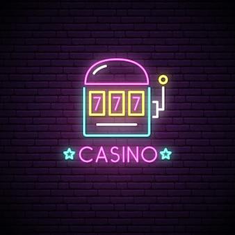 Sinal de néon do casino.