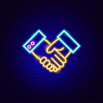 Sinal de néon do kit mãos livres. ilustração em vetor de promoção de negócios.