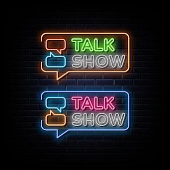 Sinal de néon do talk show, símbolo de néon