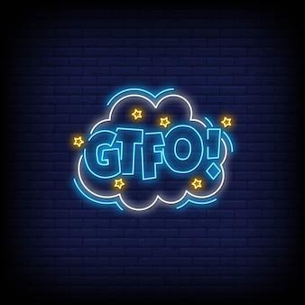 Sinal de néon gtfo