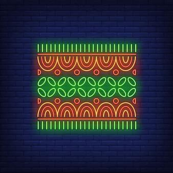 Sinal de néon motivo africano