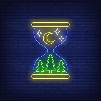 Sinal de néon noturno
