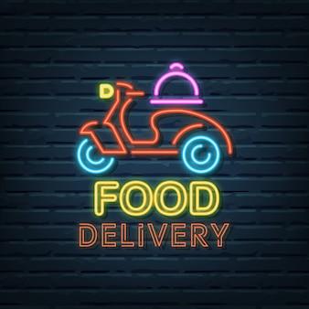 Sinal de néon para entrega de comida