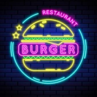 Sinal de neon para restaurante