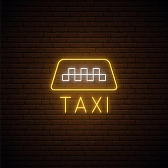 Sinal de néon para táxi