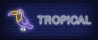 Sinal de néon tropical