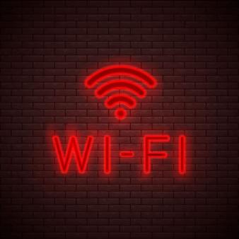 Sinal de néon wi-fi