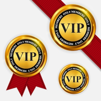 Sinal de ouro apenas para membros vip do vetor, modelo de etiqueta eps10