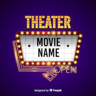 Sinal de outdoor de teatro