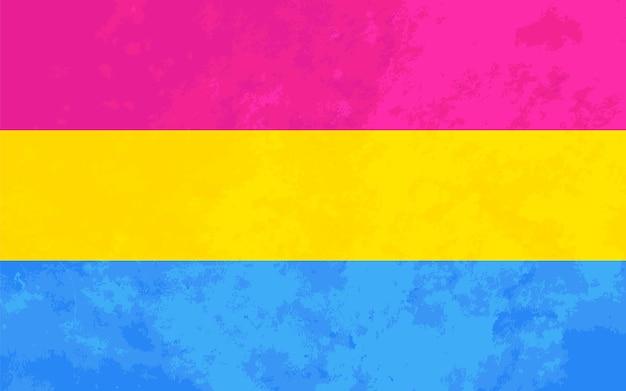 Sinal de pansexyal, bandeira do orgulho pansexyal com textura