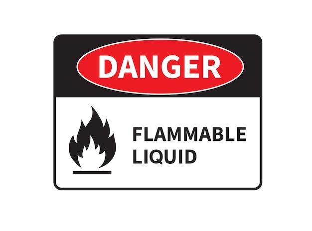 Sinal de perigo de líquido inflamável