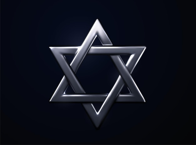 Sinal de prata da estrela de david