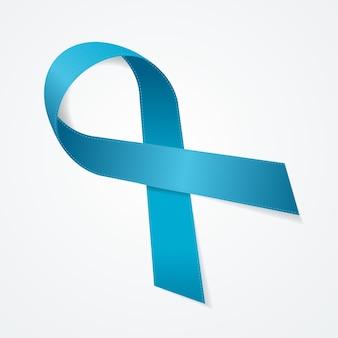 Sinal de prêmio de fita de laço azul ganhar o símbolo da competição. ilustração vetorial