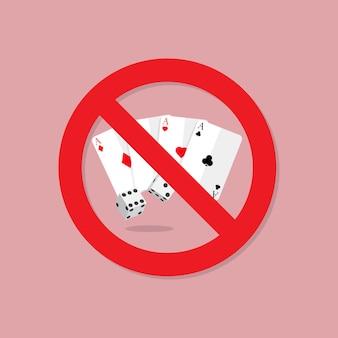 Sinal de proibição de jogar