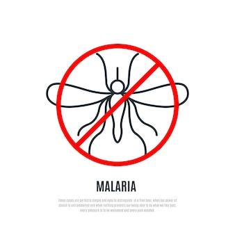 Sinal de proibição de mosquitos