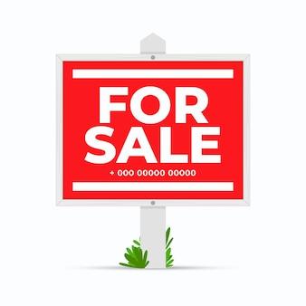 Sinal de quintal à venda Vetor grátis