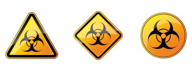 Sinal de risco biológico. sinais de perigo de risco biológico.