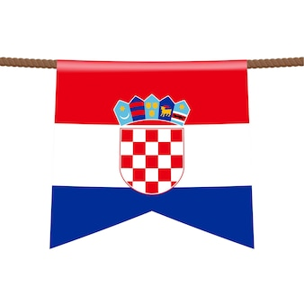 Sinal de trânsito da croácia. bandeira nacional com o nome do país na ilustração vetorial de design de placa de sinais de tráfego rodoviário azul.