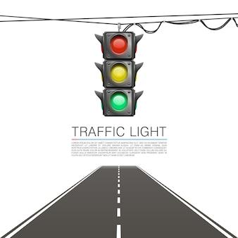 Sinal de trânsito em um fundo branco. ilustração vetorial