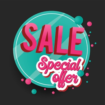 Sinal de venda oferta especial