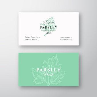 Sinal de vetor abstrato de salsa fresca ou logotipo e modelo de cartão de visita