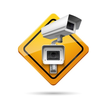 Sinal de vigilância por vídeo