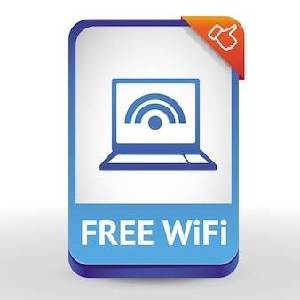 Sinal de wi-fi grátis - elemento de design