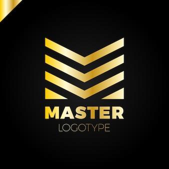 Sinal do logotipo m. logotipo abstrato de design de negócios
