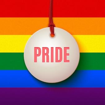 Sinal do orgulho amor lgbt