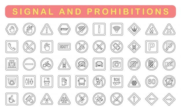 Sinal e proibições, estilo outlinet