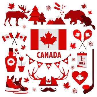 Sinal e símbolo do canadá