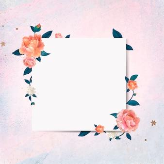 Sinal em branco floral