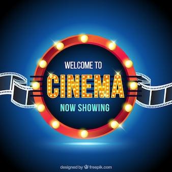 Sinal filme brilhante circular