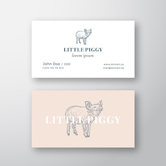 Sinal ou logotipo feminino abstrato porquinho