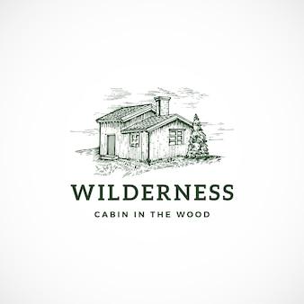 Sinal, símbolo ou logotipo abstrato da região selvagem