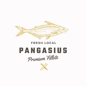Sinal, símbolo ou logotipo de vetor abstrato pangasius