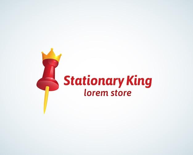 Sinal, símbolo ou logotipo estacionário do rei absrtract.