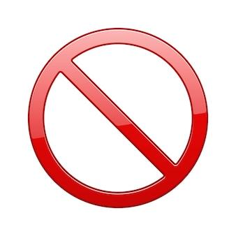 Sinal vermelho proibido