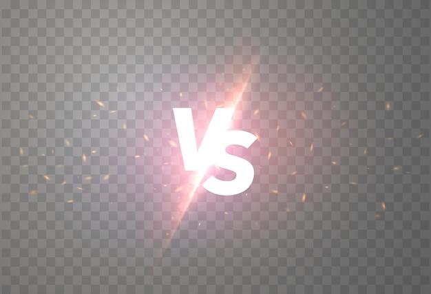 Sinal versus com luz brilhante isolada
