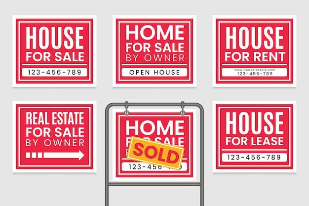 Sinalização de venda de imóveis