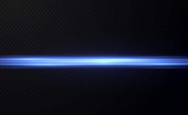 Sinalizadores de lente horizontal azul embalam feixes de laser raios de luz horizontais sinalizadores de luz lindos