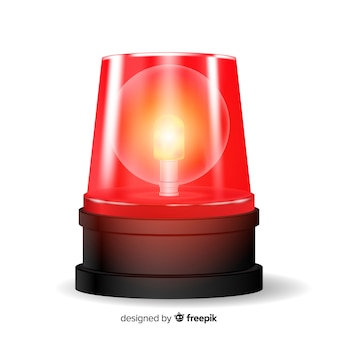 Sirene vermelha intermitente