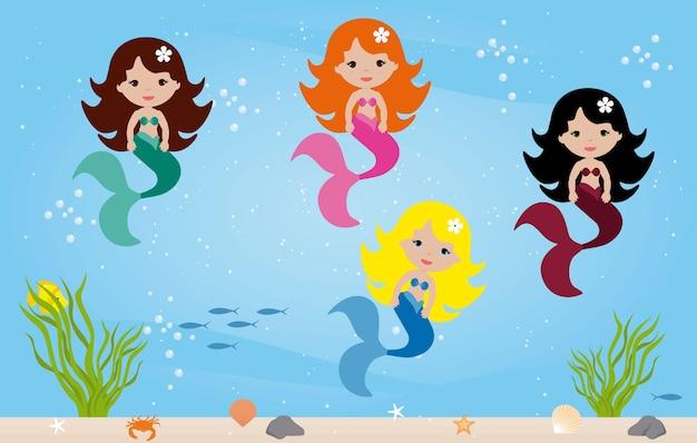 Sirenes sob o mar