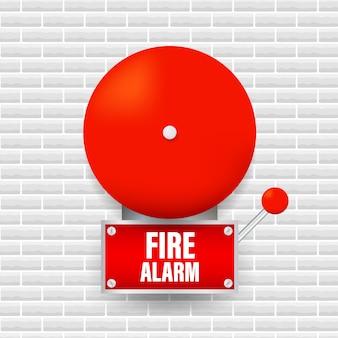 Sistema de alarme de incêndio. equipamento contra incêndio. ilustração