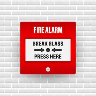 Sistema de alarme de incêndio.