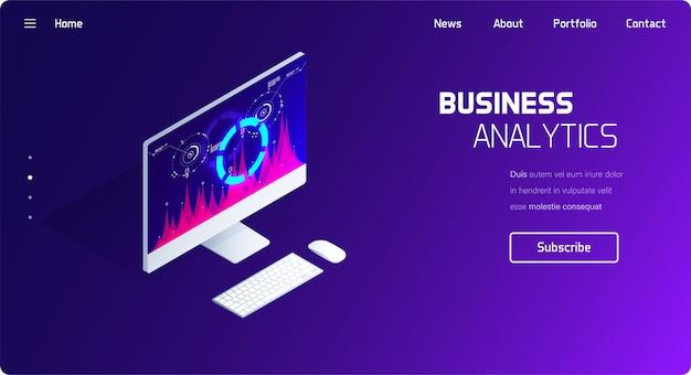 Sistema de análise de negócios e finanças.