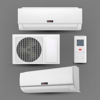 Sistema de ar condicionado com conjunto de controle