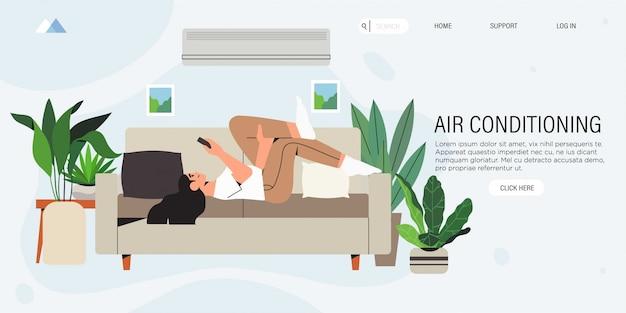 Sistema de ar condicionado.