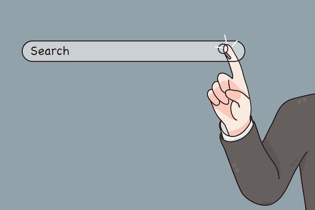 Sistema de busca de tecnologia e conceito de tecnologias de internet
