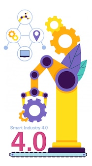 Sistema de configuração de máquinas industriais em produção.